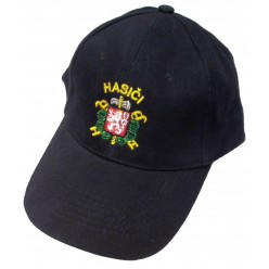 Čepice kšiltovka se znakem a nápisem Hasiči